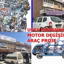 ARAÇ MOTOR DEGİŞİMİ ARAÇ PROJE ANKARA 05323118894